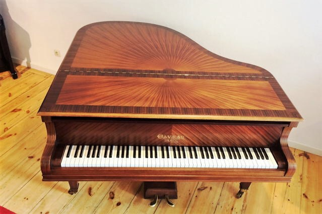 <p>1847年、パリで創業。</p> <p>美しい化粧板で知られるガヴォー。</p> <p>このピアノの美しいアートケースは太陽をモチーフにした贅沢なデザイン。</p> <p>デザインそのままの美しい音色!</p>